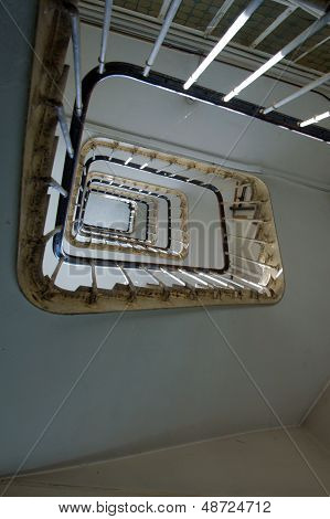Spiral Staircase, Forged Handrail