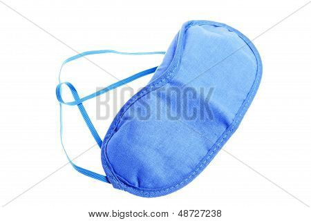 Blue Sleeping Mask Isolated