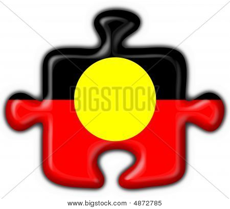 Australian Aboriginal Button Puzzle Round Shape