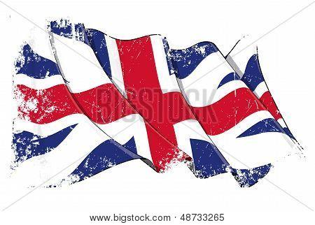 Union Jack 1606�1801 (the King's Colours) Grunge
