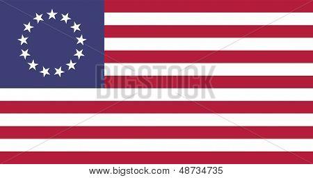 USA Betsy Ross Flat Flag