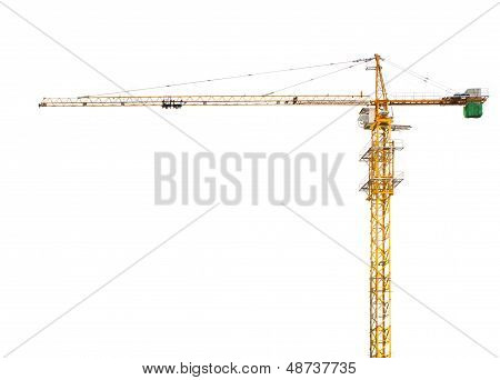 Construction Crane Isolated White Background