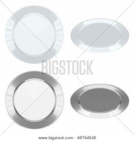 Plates - Set (Ceramic + Metallic)