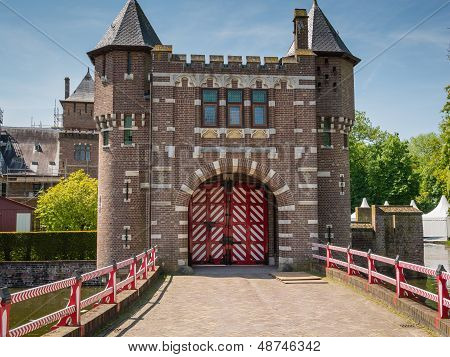 Entrance gate to Castle De Haar, The Netherlands