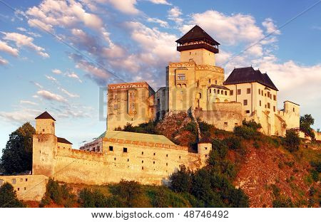 Trencin Castle on September 10, 2012 in Slovakia.