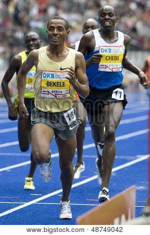 June 14 2009; Berlin Germany. BEKELE, Kenenisa ETH winner  of the 5000mtrs  at the DKB ISTAF 68 International Stadionfest Golden League Athletics competition.