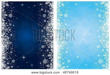Christmas background with stars and snowflakes