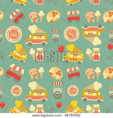 Ice Cream Retro Background