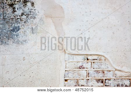 Brick and broken plaster