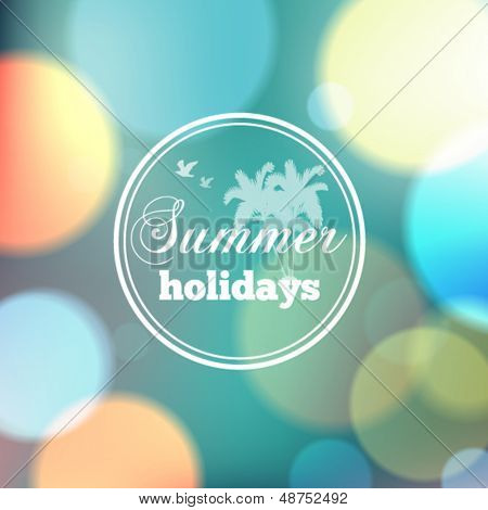 Colorful summer bokeh background with circles of light