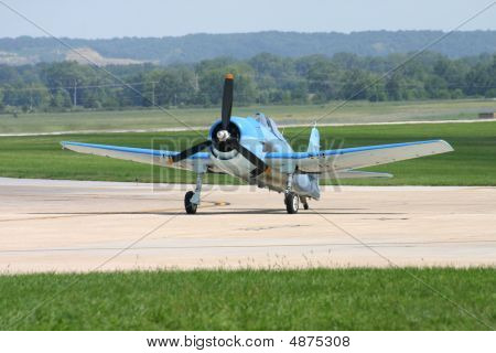 Wwii Air Plane On Runway