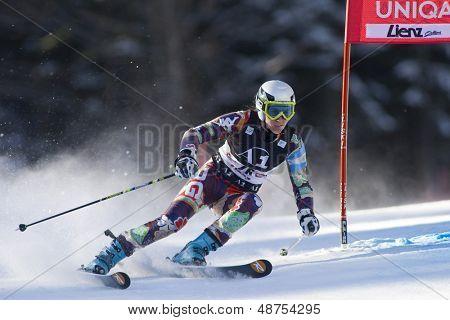 LIENZ, Österreich 28. Dezember 2009. Maria Belen SIMARI BIRKNER ARG Geschwindigkeiten nach unten, den Kurs während rangiert