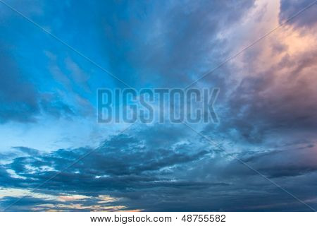 Beautiful nature background. Colorful sunset. Dramatic sky.