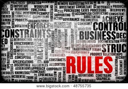 Rules and Regulations for Law or Legal Scenarios