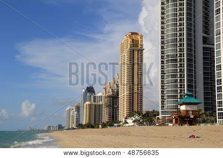 Ultra-chic condominiums on the beach
