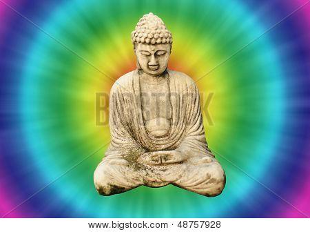 Retro Tie Dye Buddha