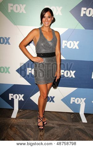 LOS ANGELES - AUG 1:  Angelique Cabral arrives at the Fox All-Star Summer 2013 TCA Party at the SoHo House on August 1, 2013 in West Hollywood, CA