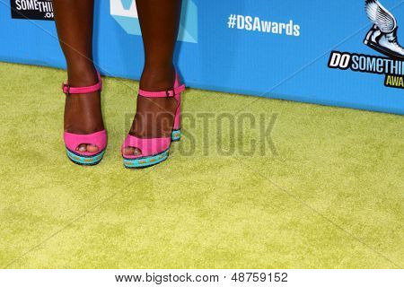 LOS ANGELES - JUL 31:  Camille Winbush arrives at the 2013 Do Something Awards at the Avalon on July 31, 2013 in Los Angeles, CA