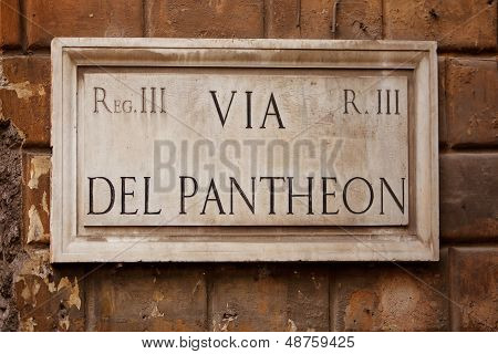Street Sign, Rome