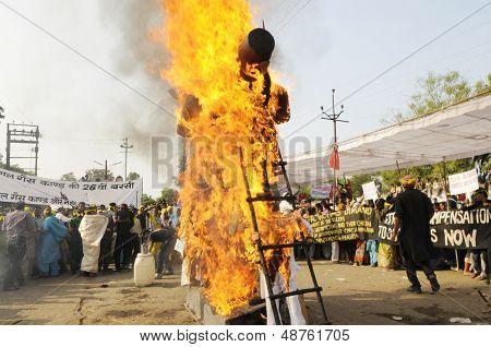 Burning effigy.