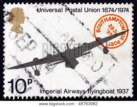 Postage Stamp Gb 1974 Imperial Airways Flying Boat