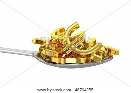 Spoon And Golden Euros