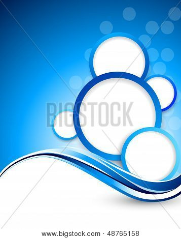 Background with circles