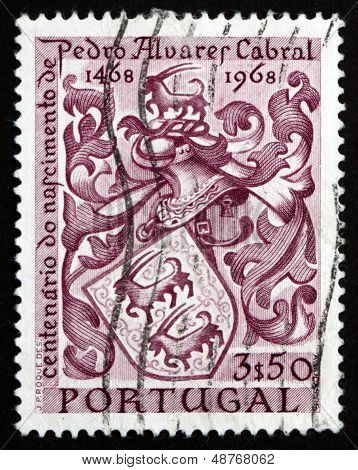 Postage Stamp Portugal 1969 Cabral's Coat Of Arms, Navigator