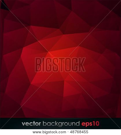 Red polygonal Abstract background.