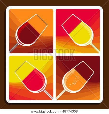 Wine collage showing different varieties