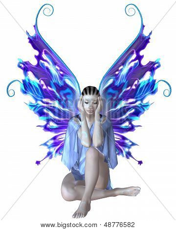Strange Fairy in Blue