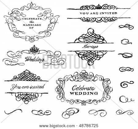 Vector Hand Drawn Ornament Set
