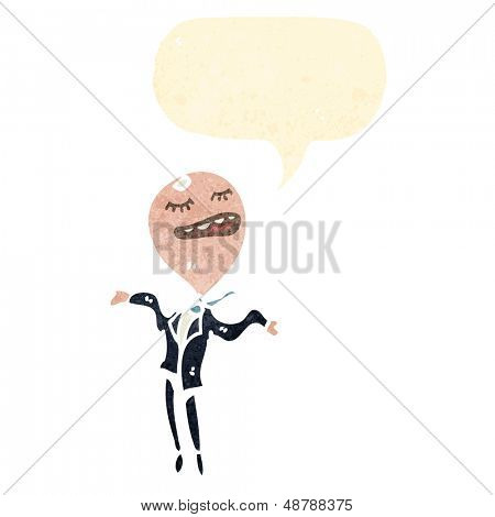 retro cartoon big head businessman