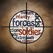 picture of humvee  - Close up of grunge paper Military target concept - JPG