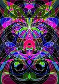 stock photo of trippy  - Digital Artworks Ethnic Style - JPG