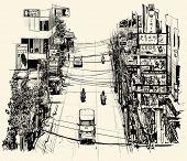 image of brothel  - Street in Bangkok  - JPG