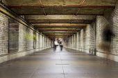 picture of underpass  - An underpass in London with the blur of people going past - JPG