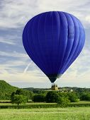 Blue Flying Hot Air Balloon