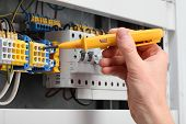 stock photo of fuse-box  - Man - JPG