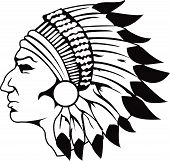 stock photo of american indian  - an indian logo in black and white colours - JPG