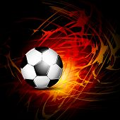 foto of fireball  - Soccer ball on fire - JPG