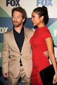 SLOS ANGELES - AUG 1:  Seth Green, Brenda Song arrives at the Fox All-Star Summer 2013 TCA Party at