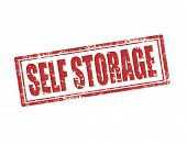 pic of self-storage  - Grunge rubber stamp with text Self storage - JPG