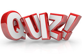 stock photo of quiz  - The word Quiz in red 3D letters to illustrate an exam - JPG