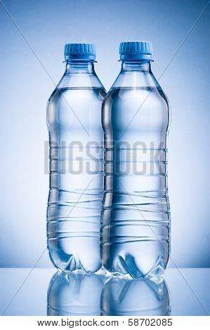 Two Plastic Bottles Of Drinking Water