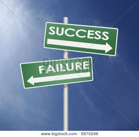 Success And Failure Sign Direction