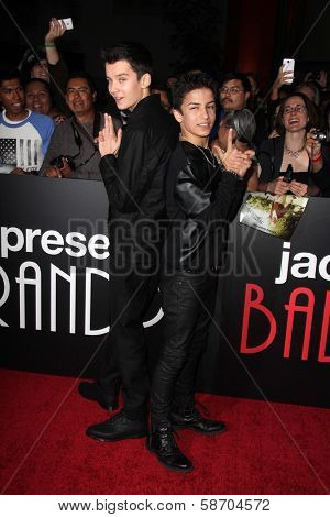 Asa Butterfield and Aramis Knight at the