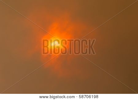 Sun Through Bushfire Clouds