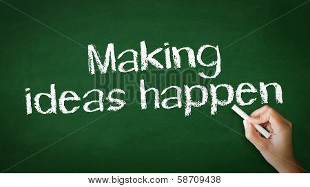 Making Ideas Happen Chalk Illustration