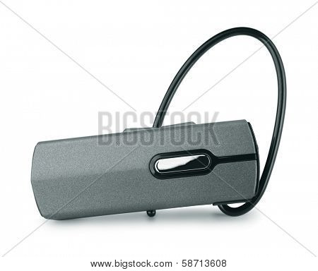 Bluetooth headset isolated on white